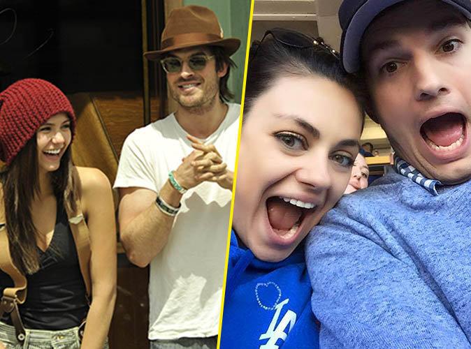 Ian Somerhalder et Nina Dobrev, Ashton Kutcher et Mila Kunis... Ces couples qui se sont rencontrés sur un plateau de tournage !