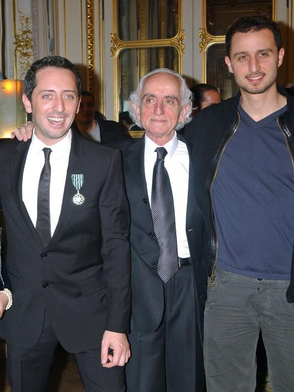 Gad et Arié Elmaleh avec leur papa