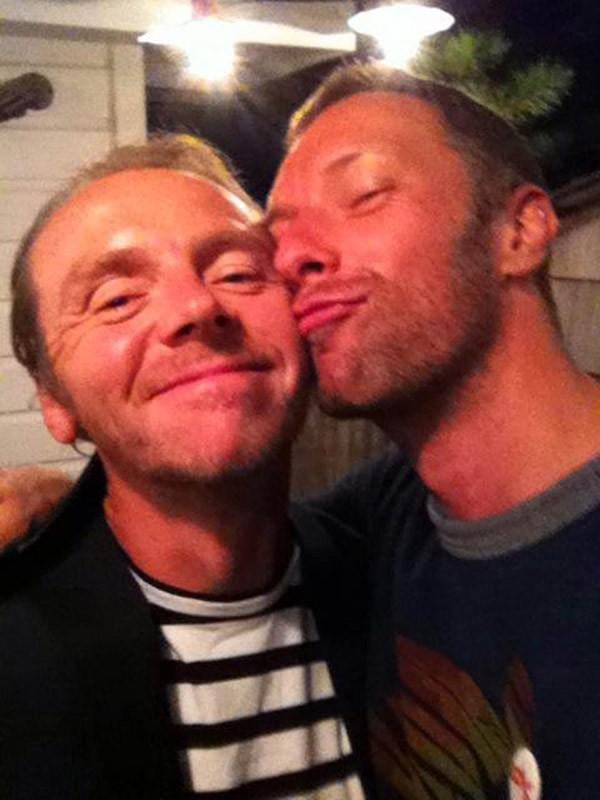 Simon Pegg & Chris Martin