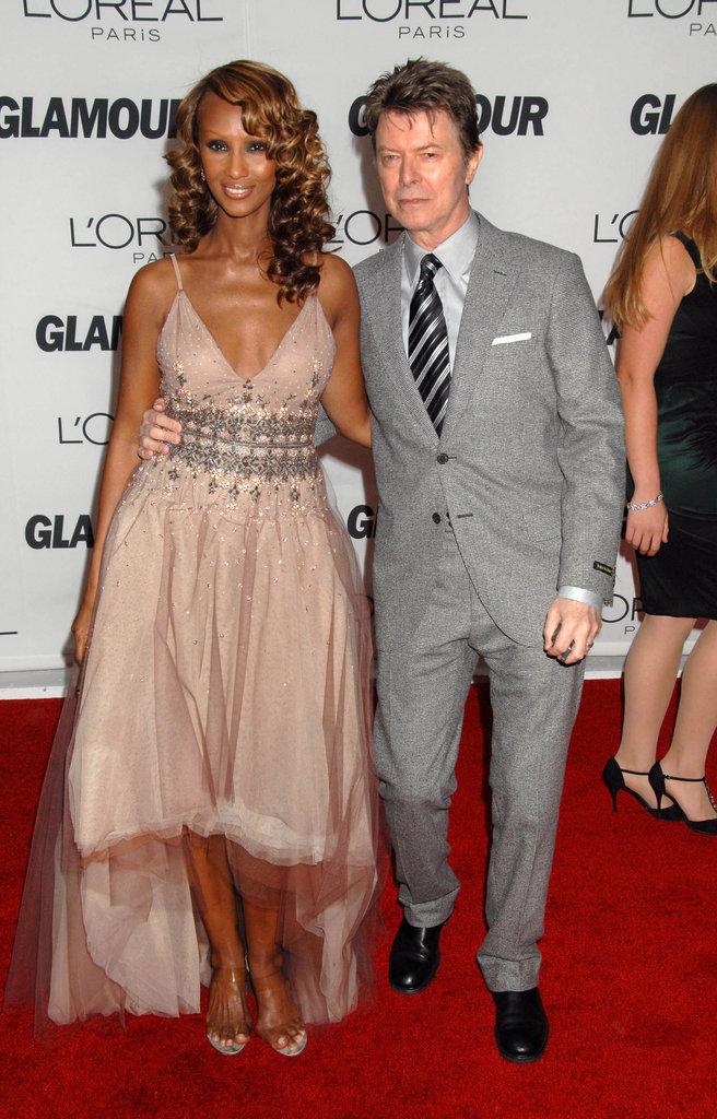 Iman et David Bowie aux récompenses de Femme de l'année du magazine Glamour en 2006, à New York.