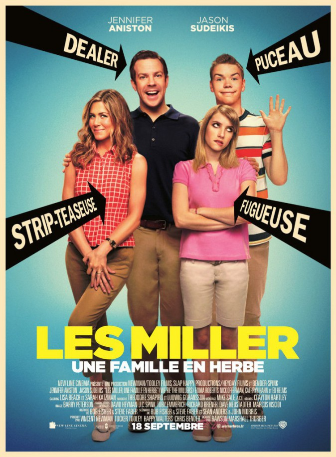 """""""Les Miller : Une Famille En Herbe"""" ensalles le 18 septembre 2013"""