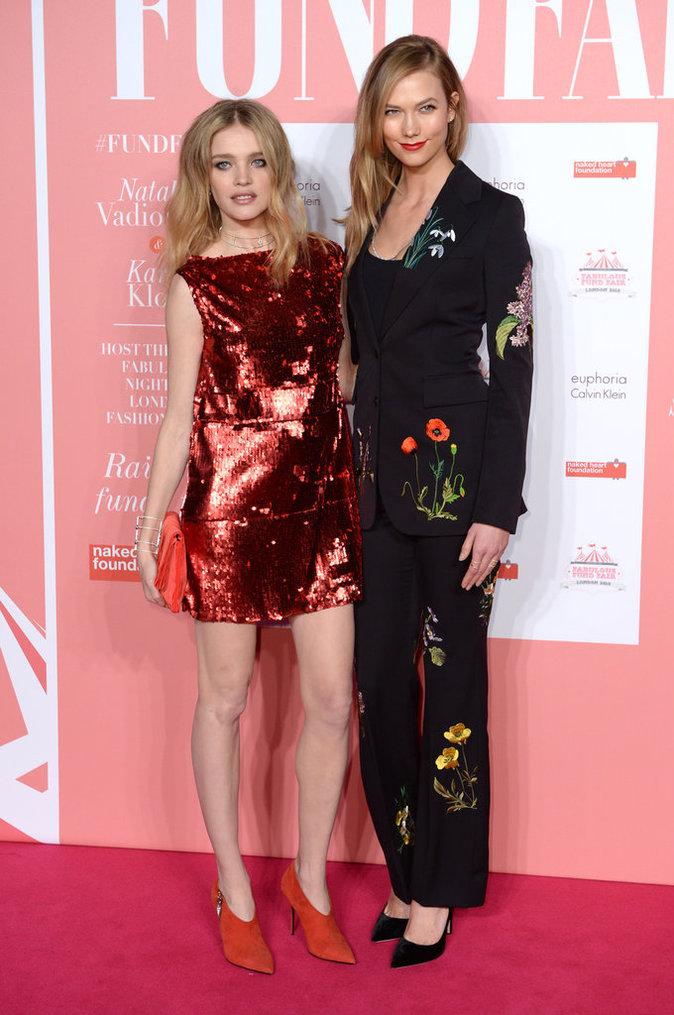 Karlie Kloss et Natalie Vodianova, très proches à la soirée Fabulous Fund Fair