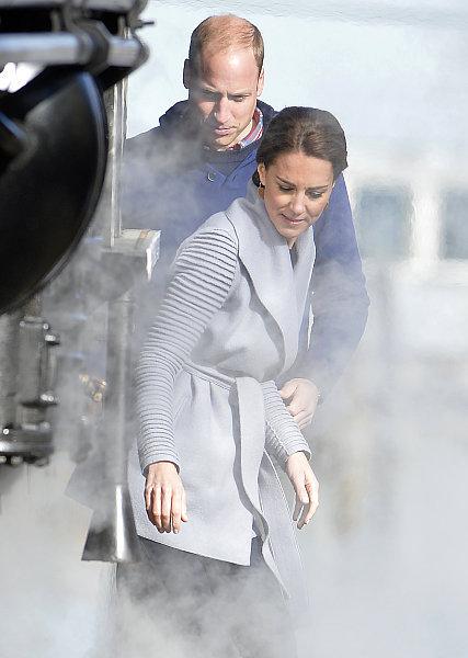 Kate Middleton et le prince William à Carcross au Canada, le 28 septembre 2016