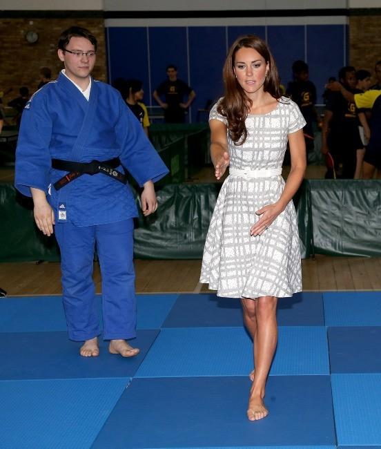 Kate Middleton au Bacon's College à Londres, le 26 juillet 2012.