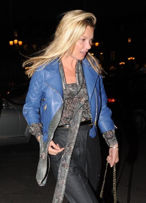 Kate Moss à Paris, le 14 novembre 2011.
