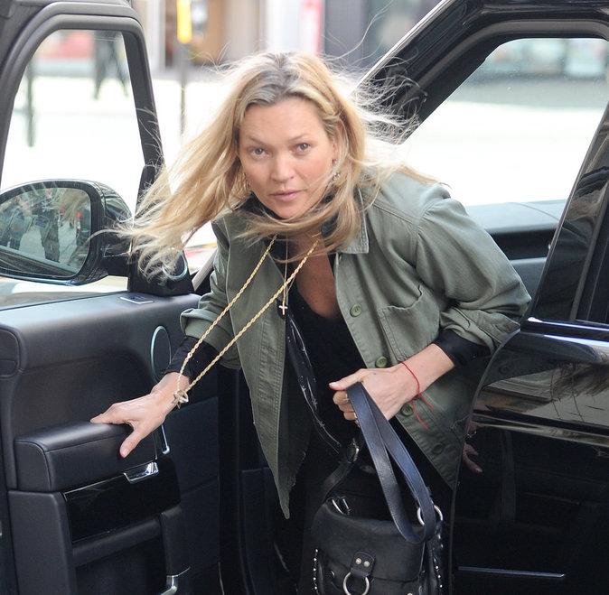 Photos : Kate Moss à Londres, le 15 juin 2016