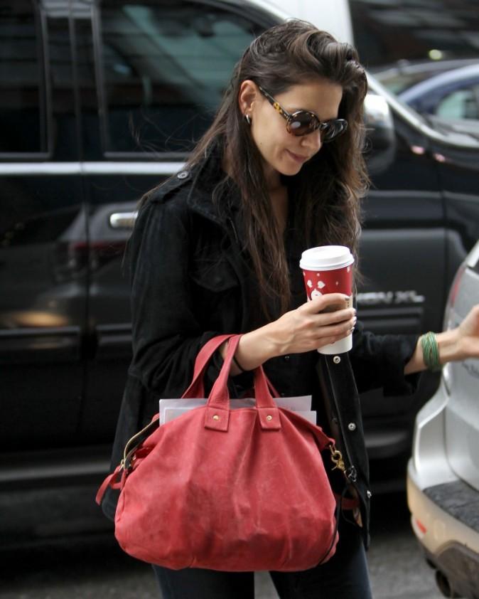 Et oui avec les cheveux mouillés, rien de tel qu'un café pour se réchauffer !