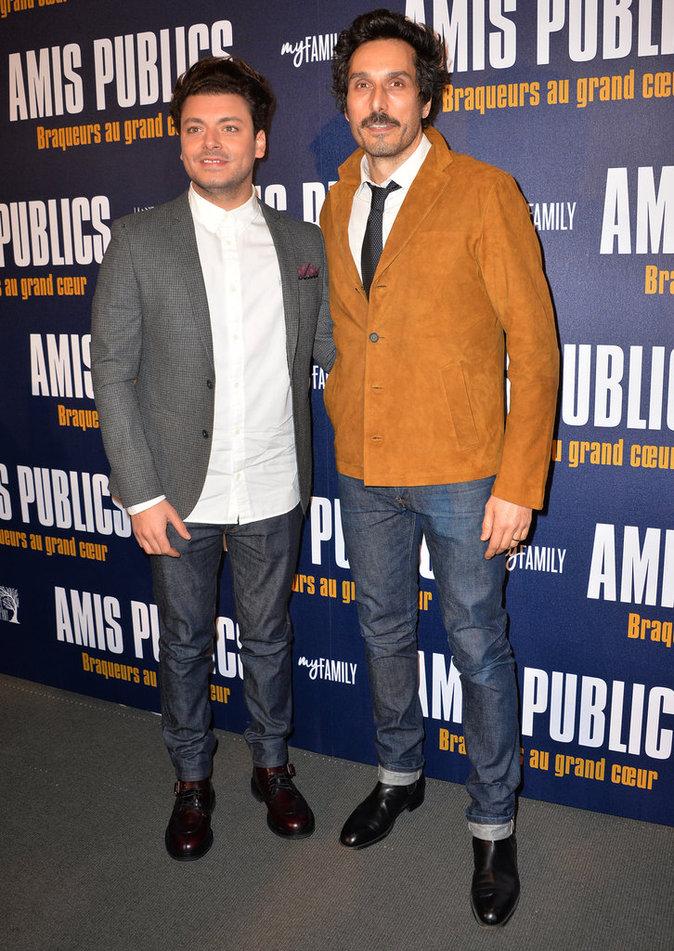 Vincent Elbaz et Kev Adams, complices à l'avant-première du film Amis Publics
