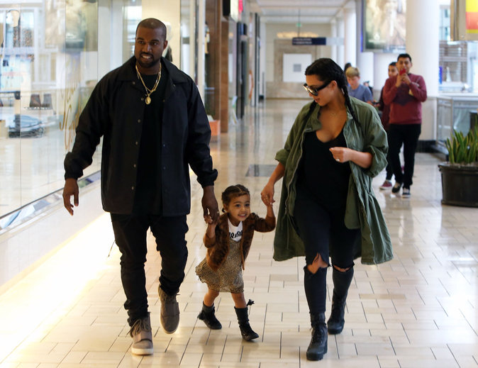 Kim Kardashian et Kanye West s'amusent avec North West