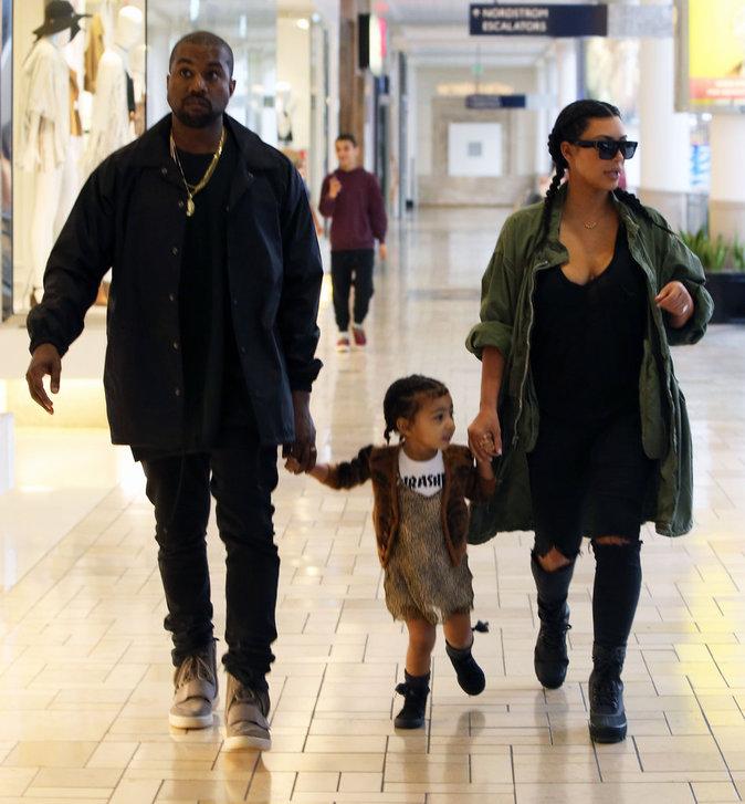 Kim Kardashian et Kanye West sont complices avec leur fille