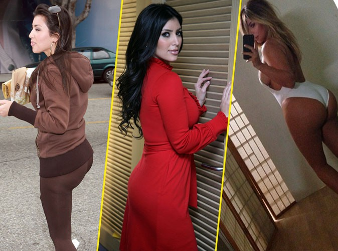Kim Kardashian : découvrez en image l'impressionnante évolution de son fessier !