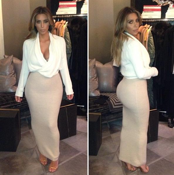 Kim Kardashian en février 2014.