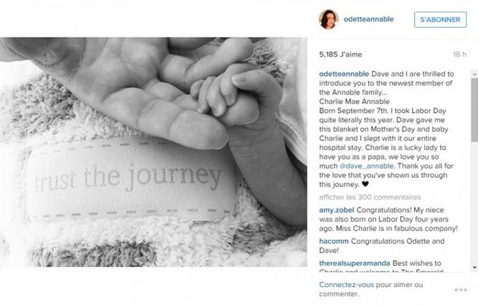 Odette et Dave Annable sont parents pour la première fois
