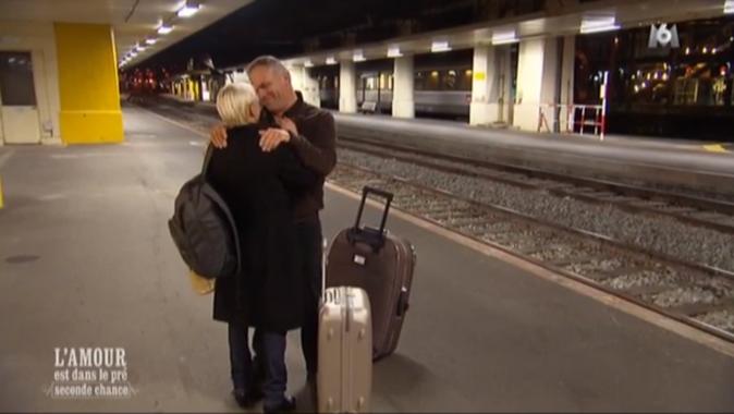 Dernier baiser sur le quai de la gare !