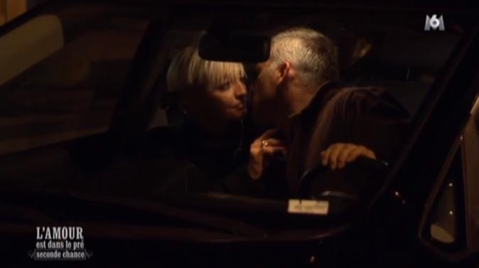 Derniers baisers dans la voiture pour Christophe et Sonia !