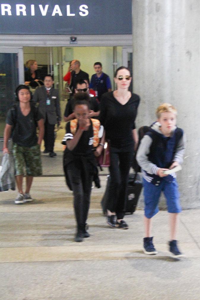 Angelina Jolie en famille