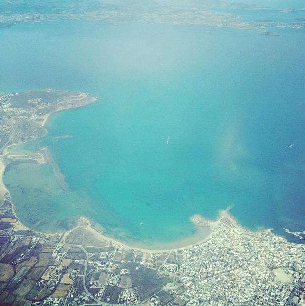 Mykonos vu d'en haut
