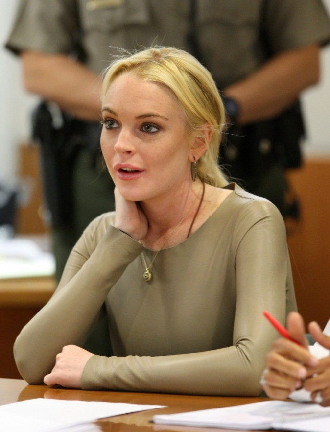 Au tribunal Lindsay risque toujours sa liberté...