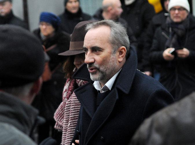 Antoine Dulery assiste aux obsèques de Michel Galabru, le 12 janvier 2016 à Paris
