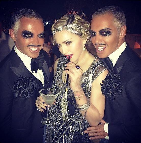 Madonna et ses invités, à Cannes, le 16 août 2014