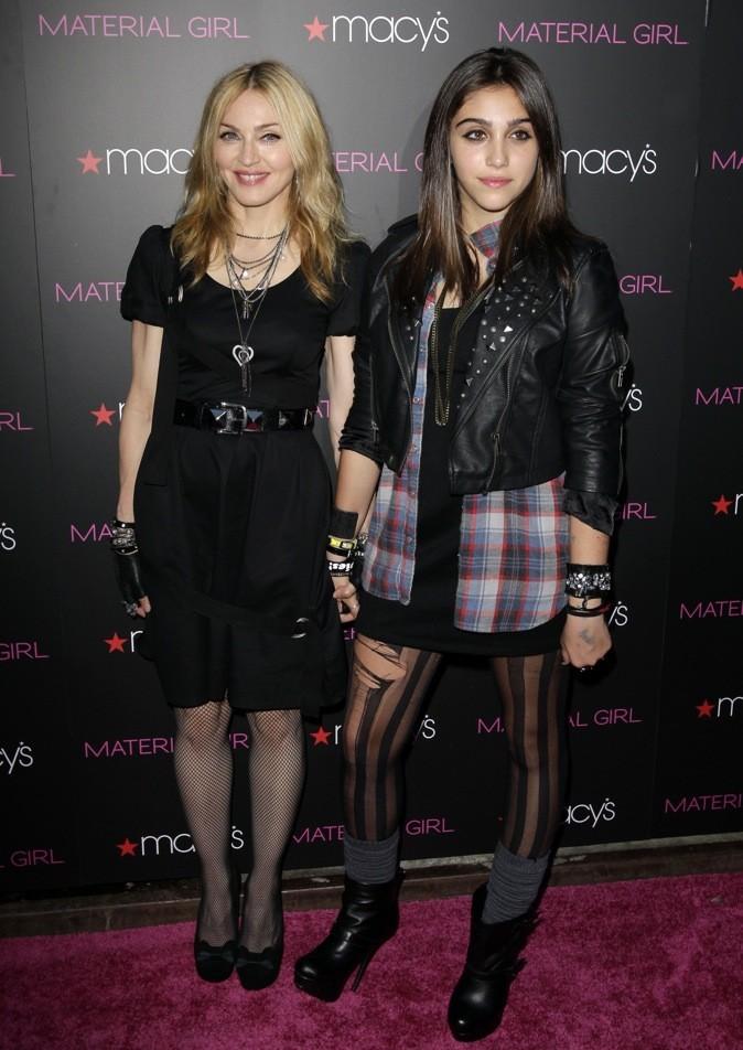 Lourdes et Madonna au lancement de Material Girl !