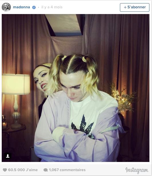 Madonna et son fils Rocco il y a un mois