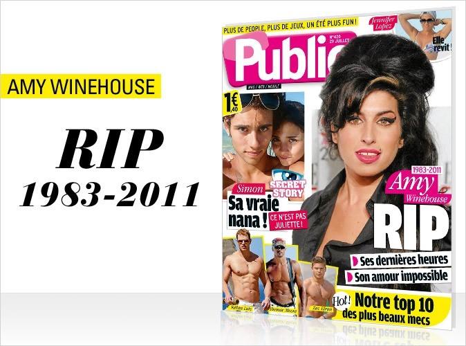 Magazine Public : Amy Winehouse en couv !