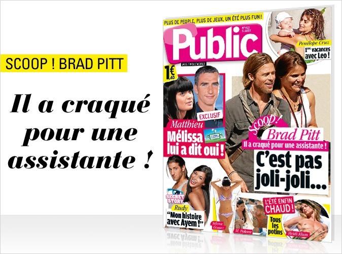 Magazine Public : Brad Pitt en couv !