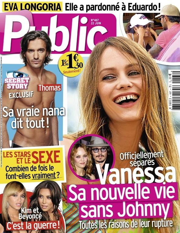 Magazine Public : Vanessa Paradis et Kim Kardashian en couv !
