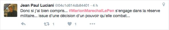 Marion Maréchal-Le Pen : les Twittos réagissent avec humour à sa décision de rejoindre la réserve militaire !
