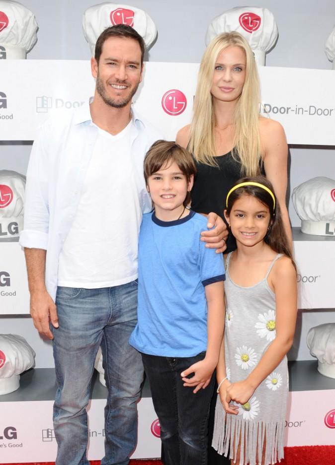 Mark-Paul Gosselaar en famille au Chef Junior Academy en Californie, le mardi 15 juillet 2014