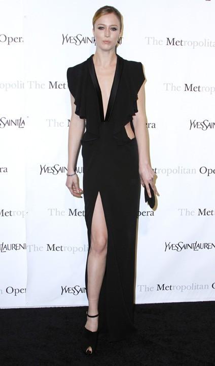 Raquel Zimmermann lors de la première de l'opéra de Rossini, Le Comte Ory, au Metropolitan Opera House à New York, le 24 mars 2011.