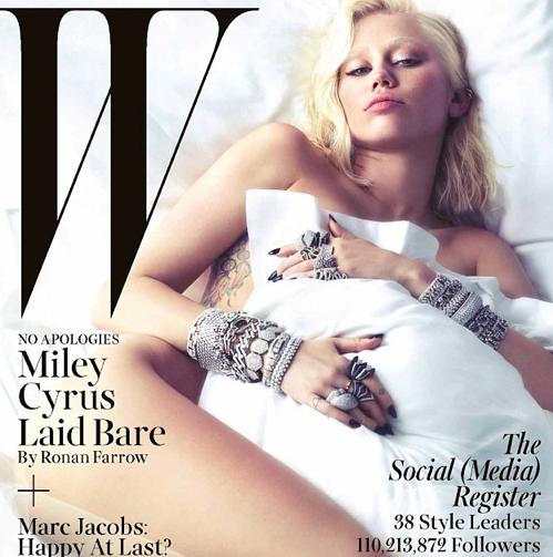 Miley en couverture du W Magazine en mars prochain !