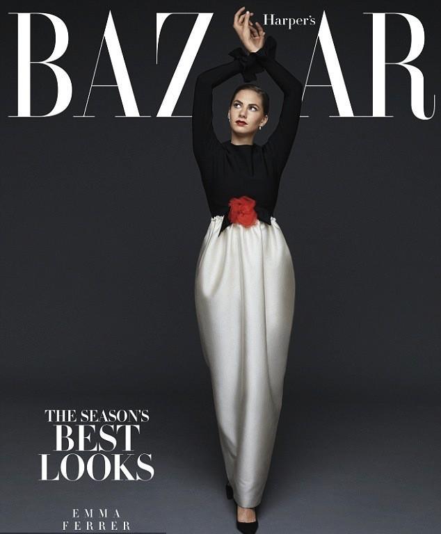 Emma Ferrer : la petite fille d'Audrey Hepburn fait la couv' du Harper Bazaar !
