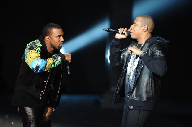 Kanye West et Jay-Z lors du Victoria's Secret Fashion Show à New York, le 9 novembre 2011.