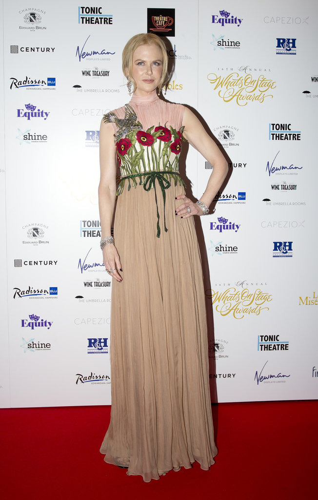 Nicole Kidman, resplendissante aux WhatsOnStage Awards