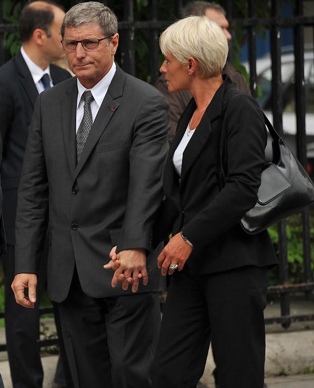 Jean-Michel Larqué et son épouse