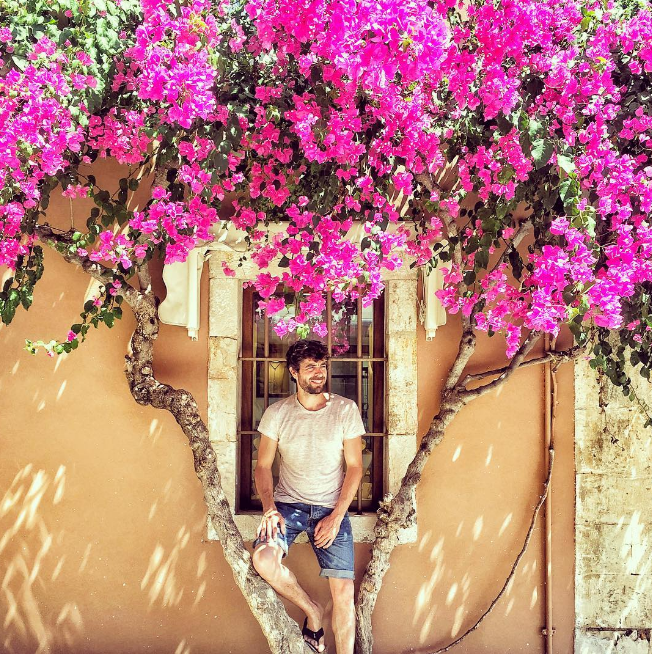 Agustin Galiana prend la pose pendant ses vacances
