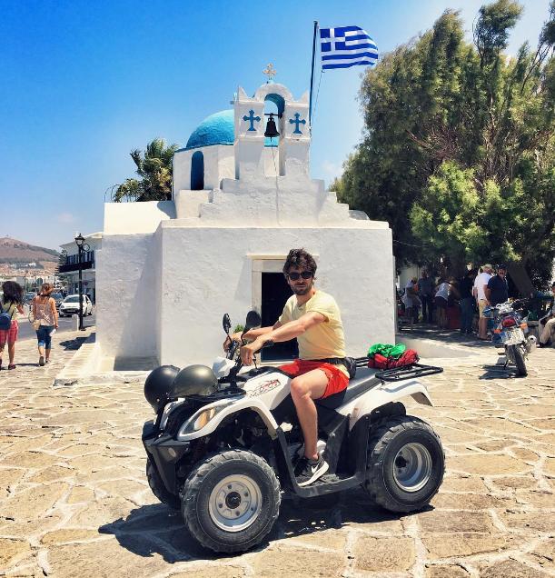 Agustin Galiana s'éclate en Grèce