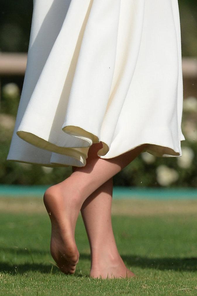 les pieds de la duchesse de Cambridge