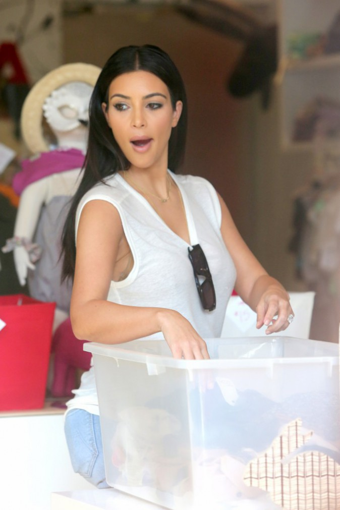 Photo : Kim Kardashian : encore une séance shopping pour sa baby girl North !