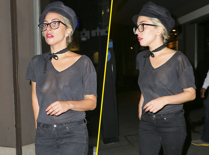 Photo : Lady Gaga, seins nus, elle se balade dans les rues de New York !