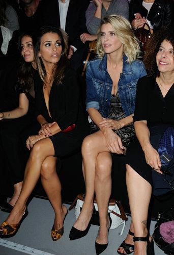 Monica Cruz et Alice Taglioni, un duo très sexy qui fonctionne au défilé d'Etam à Paris le 27/08/16