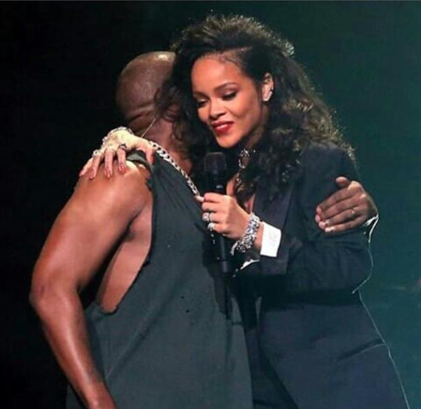 Rihanna et Kanye West le 31 janvier 2015