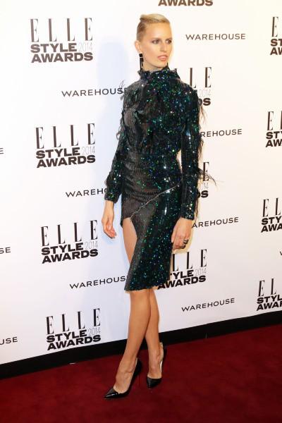 Karolina Kurkova lors de la soirée ELLE Style Awards à Londres, le 18 février 2014.