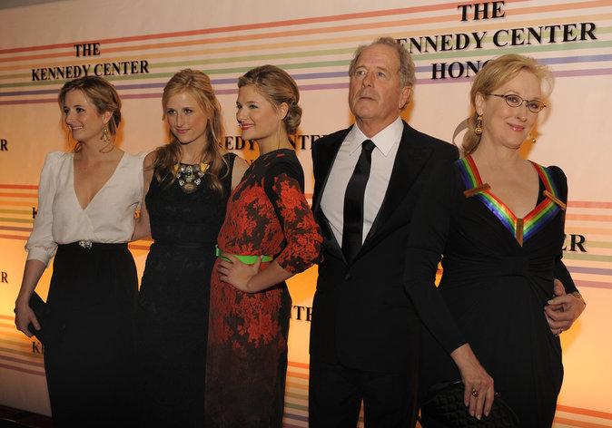 Meryl Streep avec Mamie, Louisa et Grace Gummer