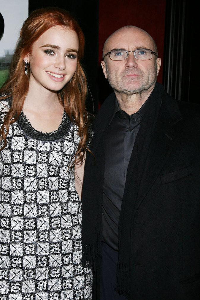 Photos : Ces 47 papas ont offert la célébrité en héritage à leurs enfants : Lily Collins et Phil Collins
