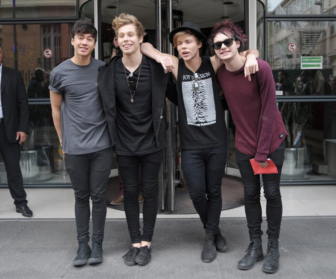 Les 5 Seconds of Summer à Paris le 2 avril 2014