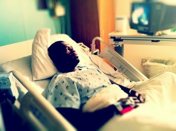 50 Cent sur son lit d'hôpital ...