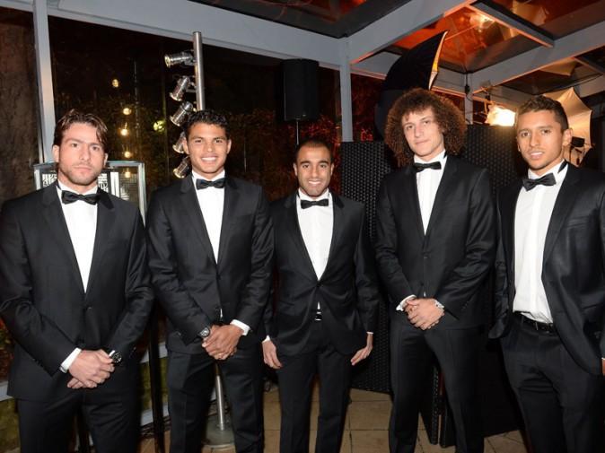 Maxwell, Thiago Silva, Lucas, David Luis et Marquinhos, les brésiliens du PSG